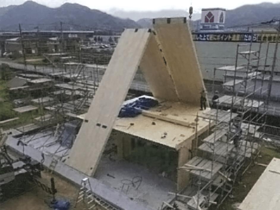 建築段階の様子