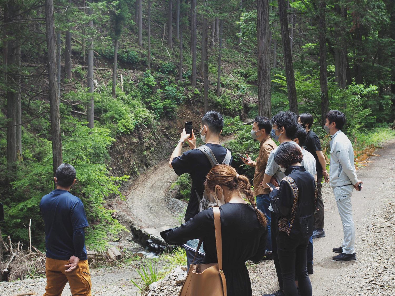 伐採現場を見ることで、林業の課題を実感