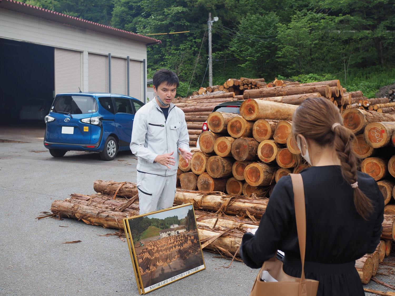 実際の原木市場で木材流通の実情を知る
