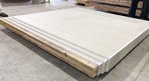 CLTに強化石膏ボードを3層被覆した中高層建築床材モデル